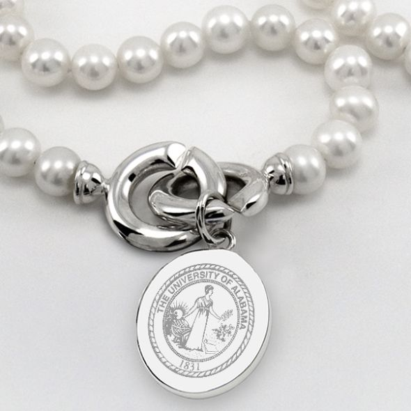 Alabama Pearl Necklace with Sterling Silver Charm - Image 2