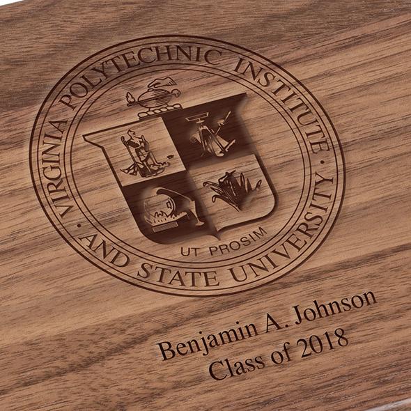 Virginia Tech Solid Walnut Desk Box - Image 3