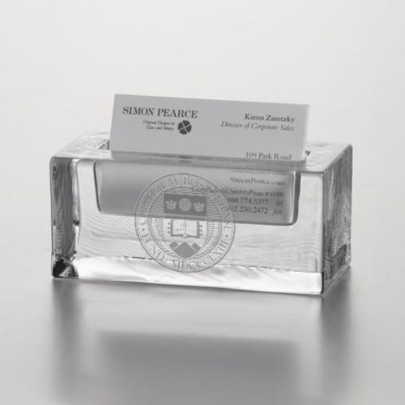 Boston College Glass Business Cardholder by Simon Pearce