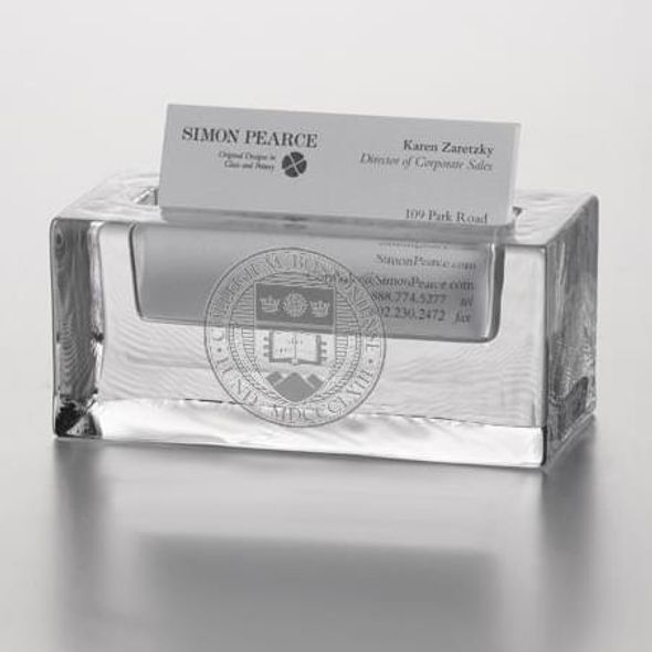 Boston College Glass Business Cardholder by Simon Pearce - Image 2