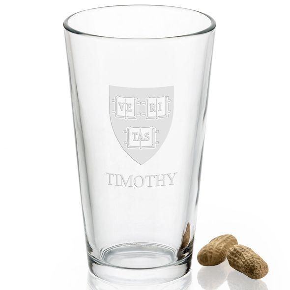 Harvard University 16 oz Pint Glass - Image 2