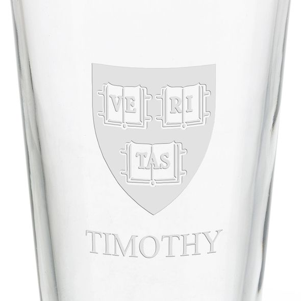 Harvard University 16 oz Pint Glass - Image 3