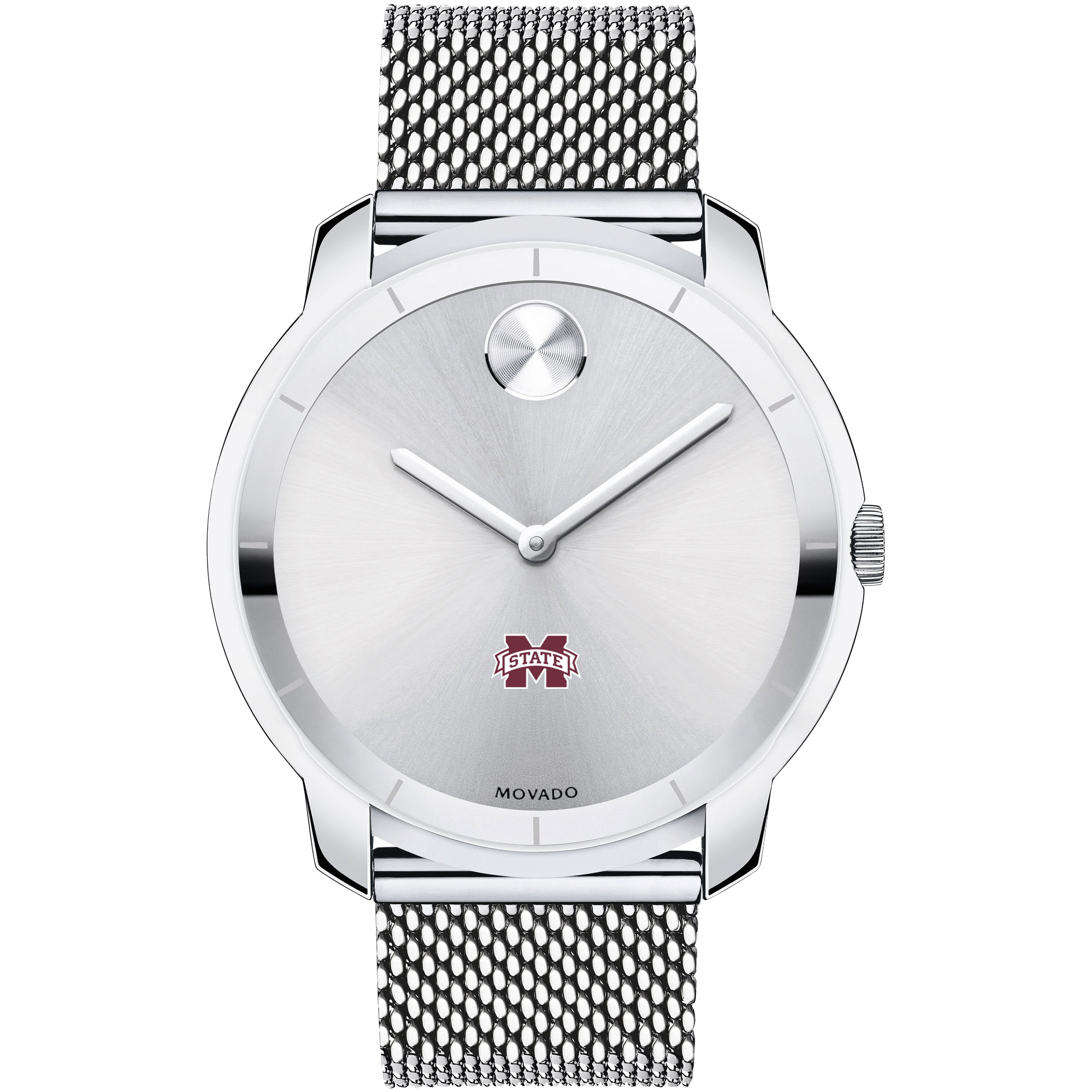 Mississippi State Men's Movado Stainless Bold 44 - Image 2
