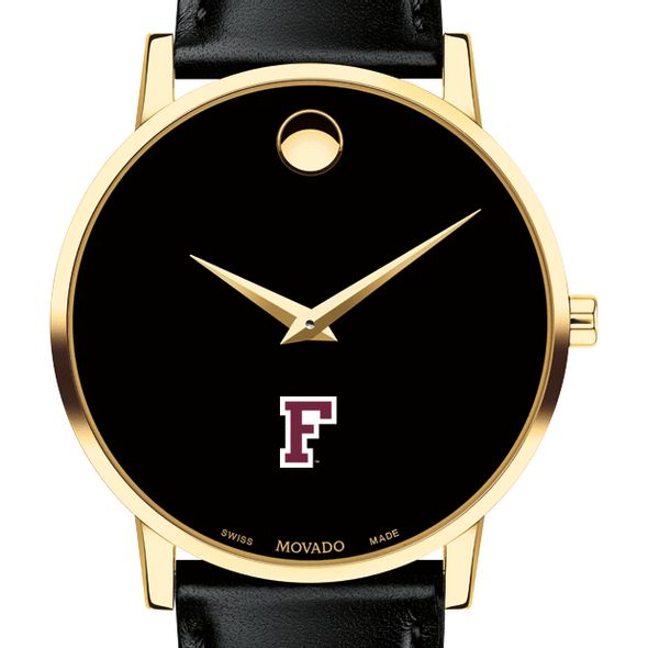 Fordham Men's Movado Gold Museum Classic Leather