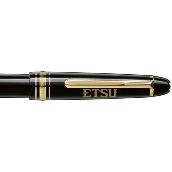 East Tennessee State University Montblanc Meisterstück Classique Fountain Pen in Gold - Image 2