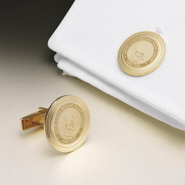 Merchant Marine Academy 14K Gold Cufflinks - Image 1