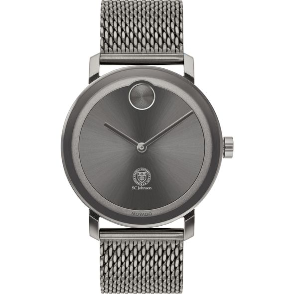 Cornell SC Johnson College of Business Men's Movado BOLD Gunmetal Grey with Mesh Bracelet - Image 2