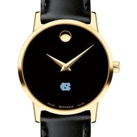 University of North Carolina Women's Movado Gold Museum Classic Leather