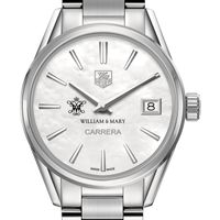 College of William & Mary Women's TAG Heuer Steel Carrera with MOP Dial