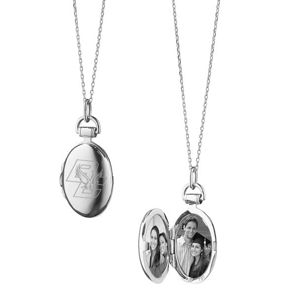 Boston College Monica Rich Kosann Petite Locket in Silver