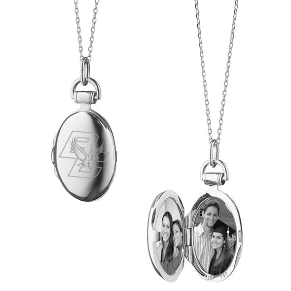 Boston College Monica Rich Kosann Petite Locket in Silver - Image 2