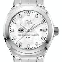 Michigan State University TAG Heuer Diamond Dial LINK for Women