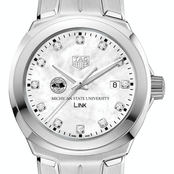 Michigan State University TAG Heuer Diamond Dial LINK for Women - Image 1