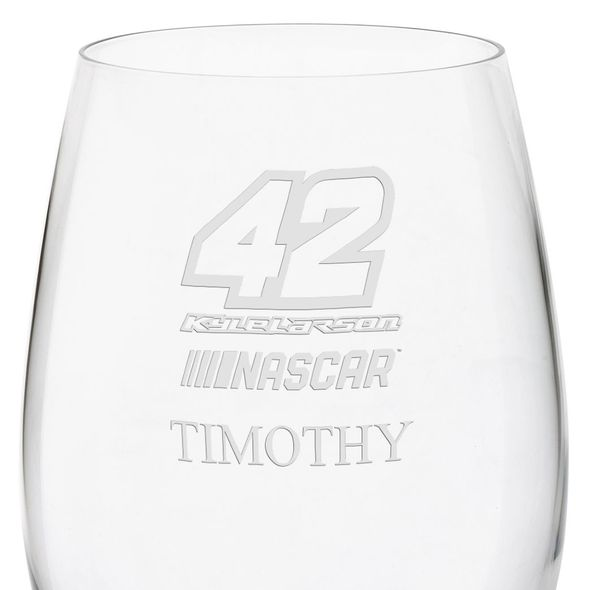 Kyle Larson Red Wine Glass - Image 3