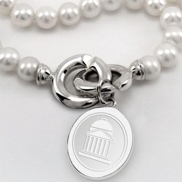 SMU Pearl Necklace with Sterling Silver Charm - Image 2