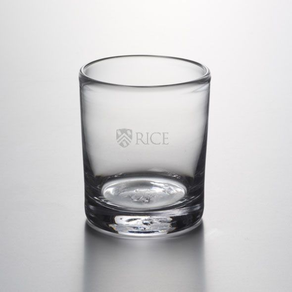 Rice University Double Old Fashioned Glass by Simon Pearce
