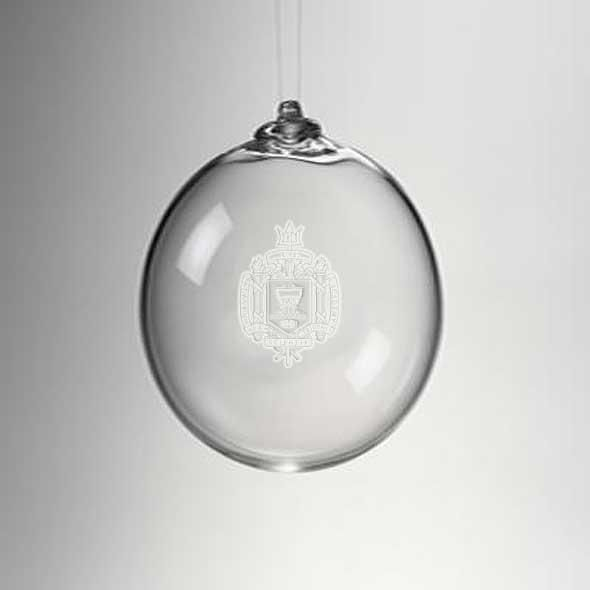 USNA Glass Ornament by Simon Pearce - Image 2
