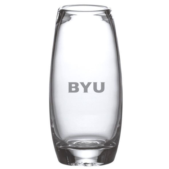 Brigham Young University Glass Addison Vase by Simon Pearce
