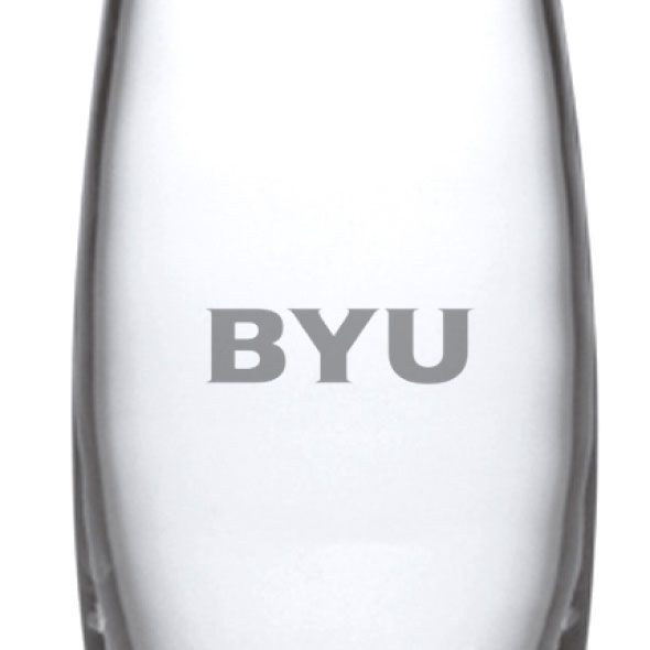 Brigham Young University Glass Addison Vase by Simon Pearce - Image 2