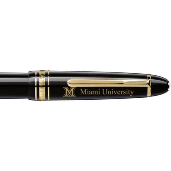 Miami University in Ohio Montblanc Meisterstück LeGrand Rollerball Pen in Gold - Image 2