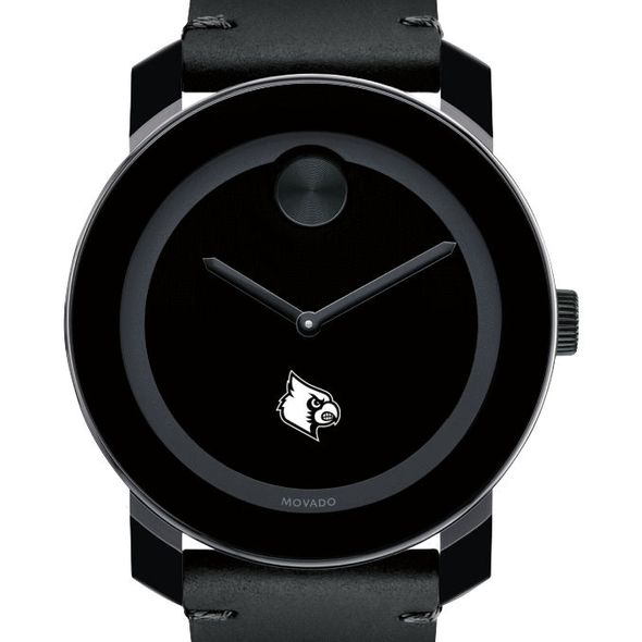 University of Louisville Men's Movado BOLD with Leather Strap