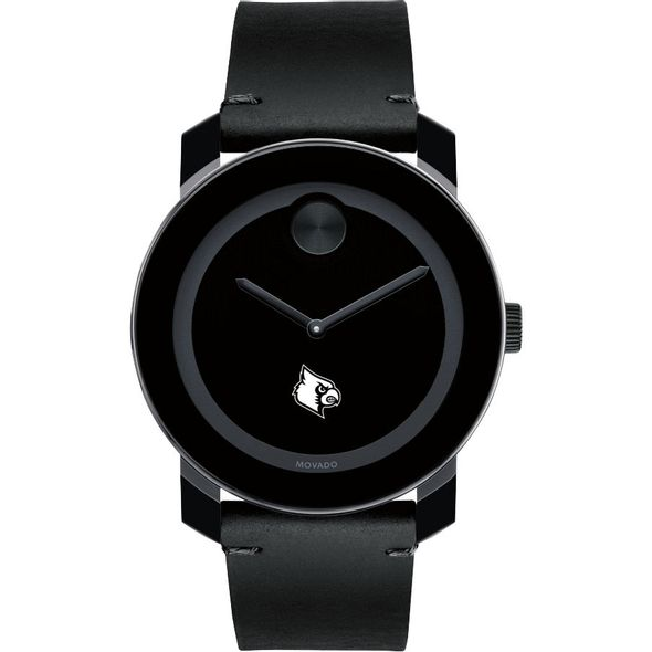 University of Louisville Men's Movado BOLD with Leather Strap - Image 2