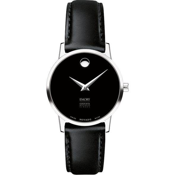 Emory Goizueta Women's Movado Museum with Leather Strap - Image 2