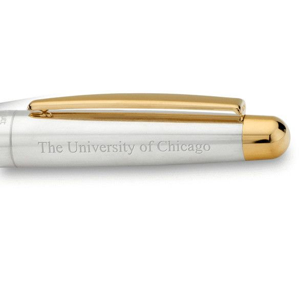 University of Chicago Fountain Pen in Sterling Silver with Gold Trim - Image 2