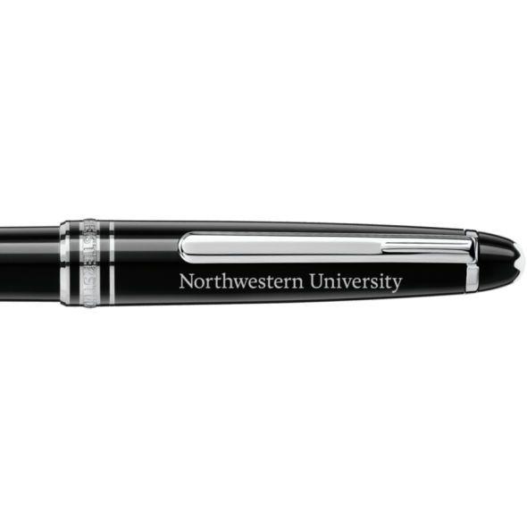 Northwestern University Montblanc Meisterstück Classique Ballpoint Pen in Platinum - Image 2