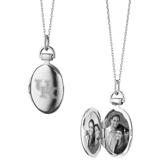 University of Kentucky Monica Rich Kosann Petite Locket in Silver