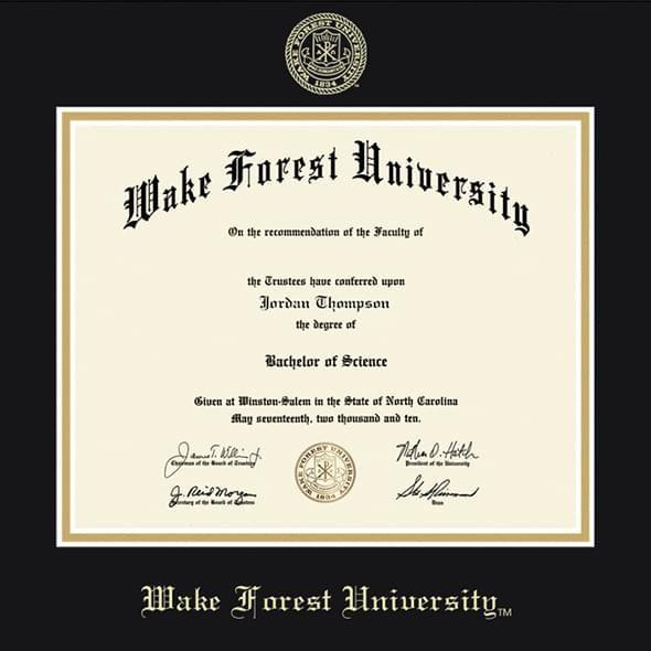 Wake Forest University Diploma Frame, the Fidelitas - Image 2