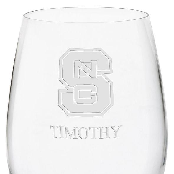 North Carolina State Red Wine Glasses - Set of 2 - Image 3