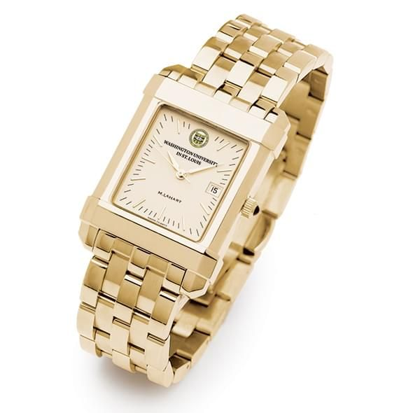 WUSTL Men's Gold Quad Watch with Bracelet - Image 2