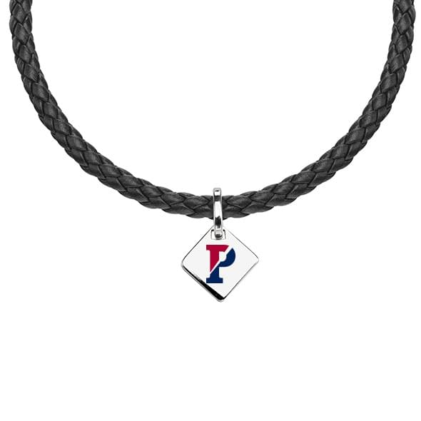 Penn Leather Necklace with Sterling Silver Tag