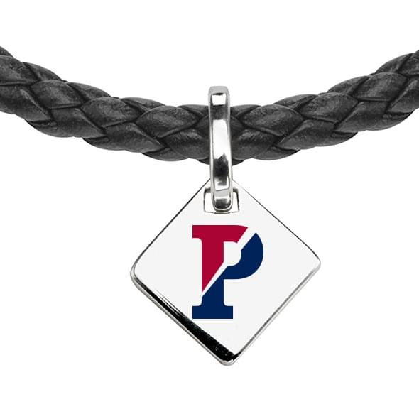 Penn Leather Necklace with Sterling Silver Tag - Image 2