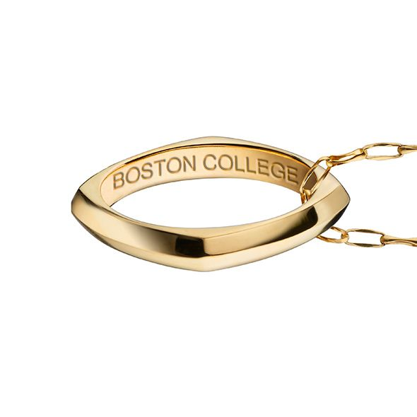 Holy Cross Monica Rich Kosann Poesy Ring Necklace in Gold - Image 3