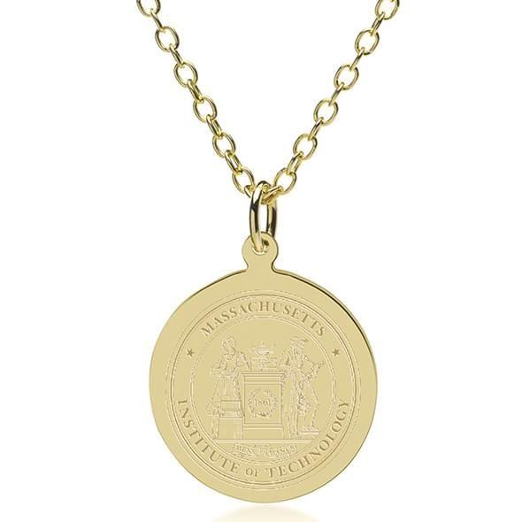 MIT 18K Gold Pendant & Chain