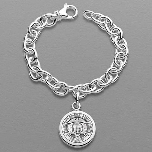 Merchant Marine Academy Sterling Silver Charm Bracelet - Image 1