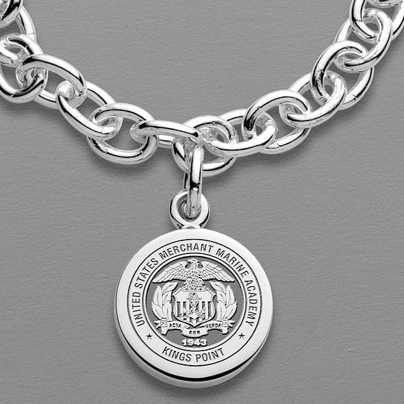 Merchant Marine Academy Sterling Silver Charm Bracelet - Image 2