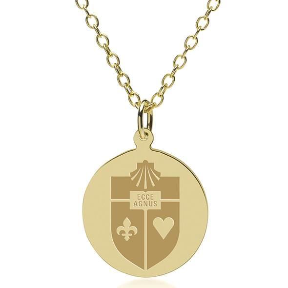 St. John's 18K Gold Pendant & Chain