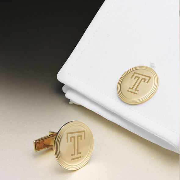 Temple 18K Gold Cufflinks