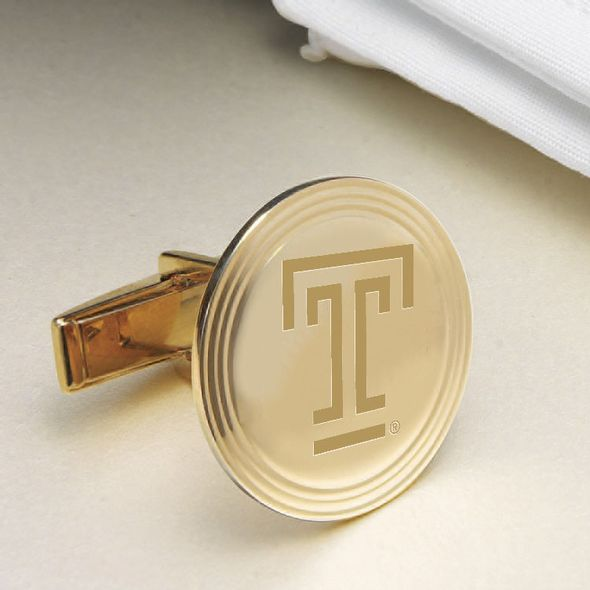 Temple 18K Gold Cufflinks - Image 2
