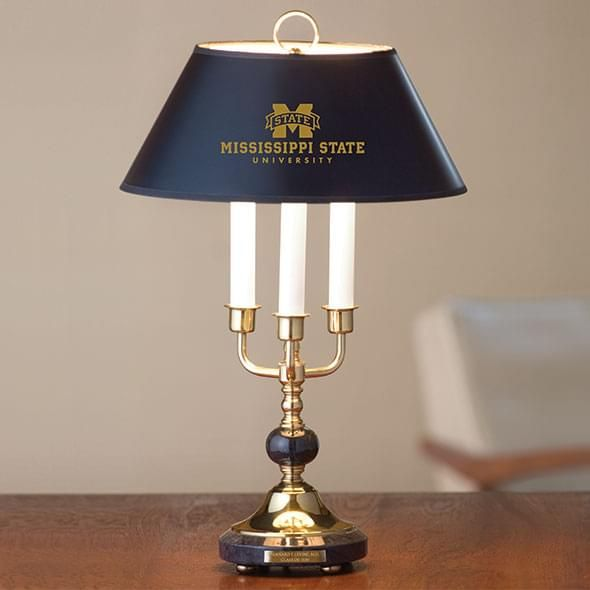 Mississippi State Lamp in Brass & Marble