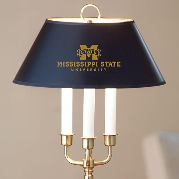Mississippi State Lamp in Brass & Marble - Image 2