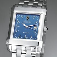 Wisconsin Men's Blue Quad Watch with Bracelet
