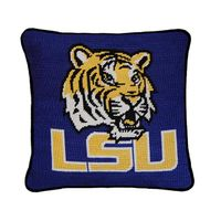 LSU Handstitched Pillow
