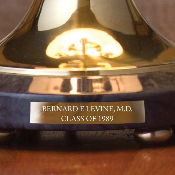 University of North Carolina Lamp in Brass & Marble - Image 3