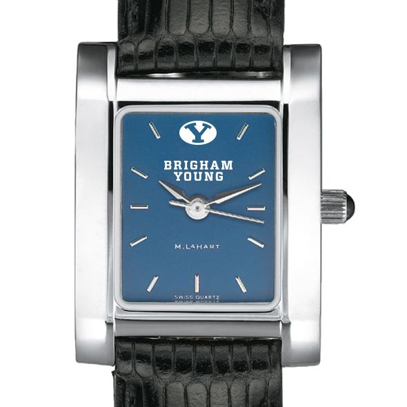 Brigham Young University Women's Steel Quad Blue Dial with Leather