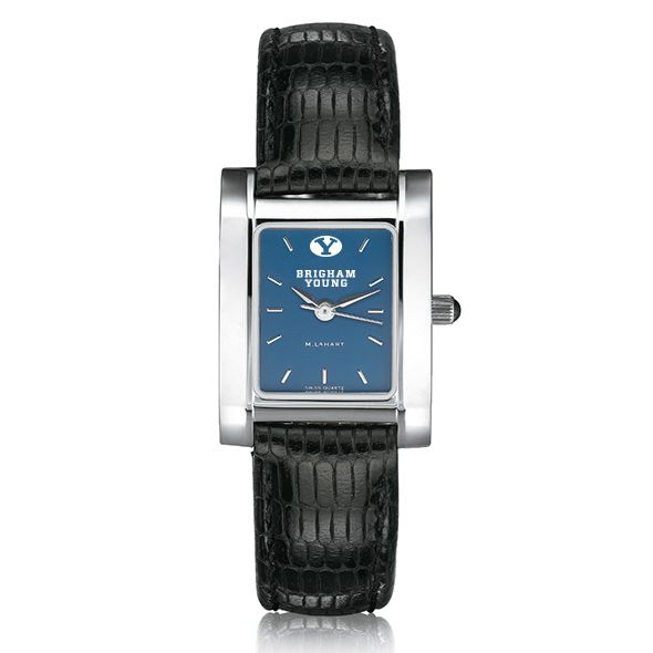 Brigham Young University Women's Steel Quad Blue Dial with Leather - Image 2