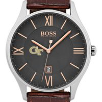 Georgia Tech Men's BOSS Classic with Leather Strap from M.LaHart